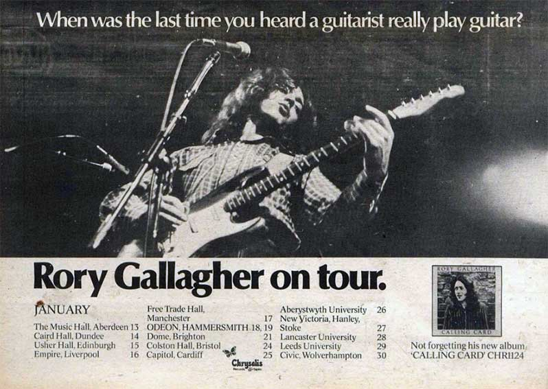 rory gallagher tour