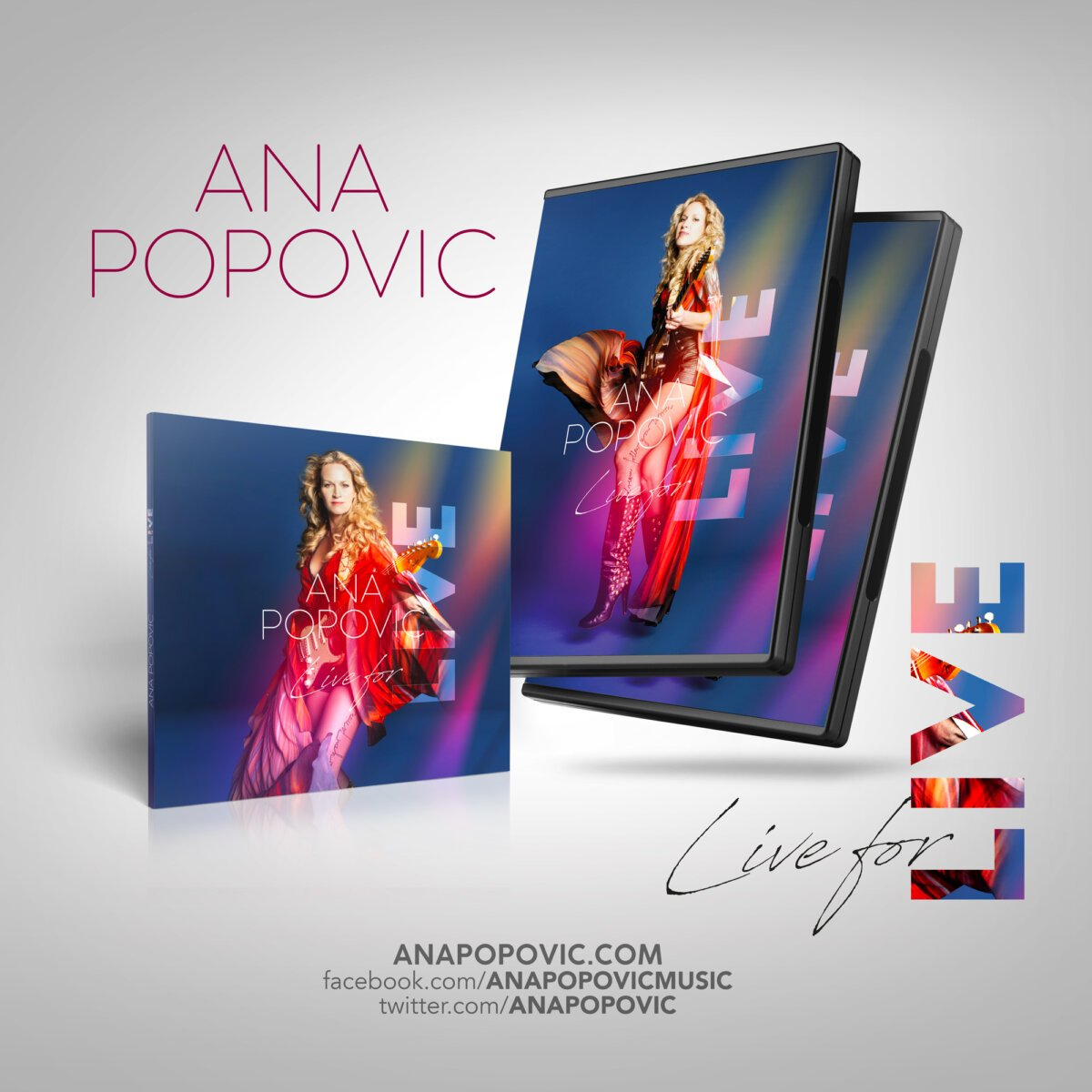 ANA POPOVIC - Live for live CD DVD
