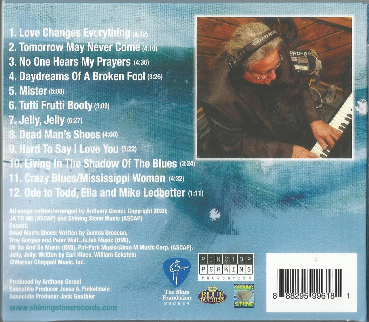 Anthony Geraci Daydreams In Blue tracks - backcover