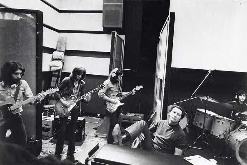 Albert Lee, Peter Frampton, Rory Gallagher & Jerry Lee Lewis - 1971 Photo Credit: © Mick Rock c/o Strange Music Ltd