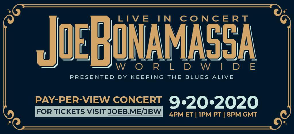 Joe Bonamassa doet streaming concert vanuit Ryman Auditorium op 20 september